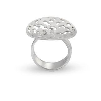 Δαχτυλίδι Arabesque από επιροδιωμένο ασήμι 925° με μπλε ζαφείρι