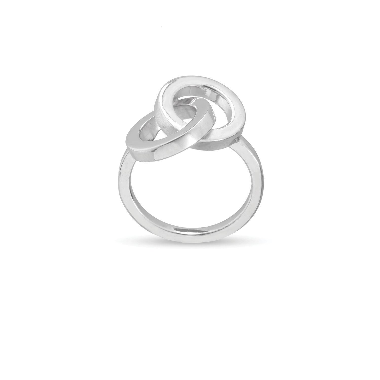 Δαχτυλίδι You & Me από επιροδιωμένο ασήμι 925°