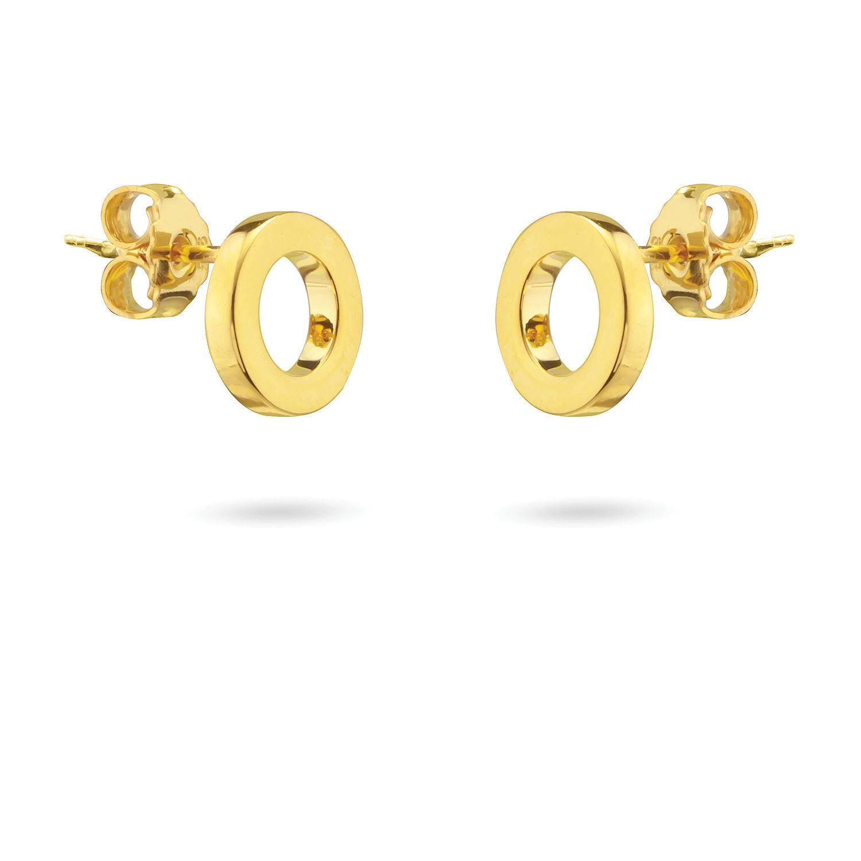 Σκουλαρίκια You & Me από επιχρυσωμένο ασήμι 925°