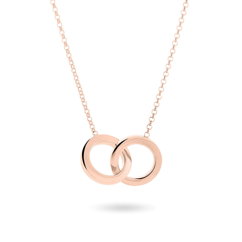 Κολιέ You & Me από ροζ επιχρυσωμένο ασήμι 925°