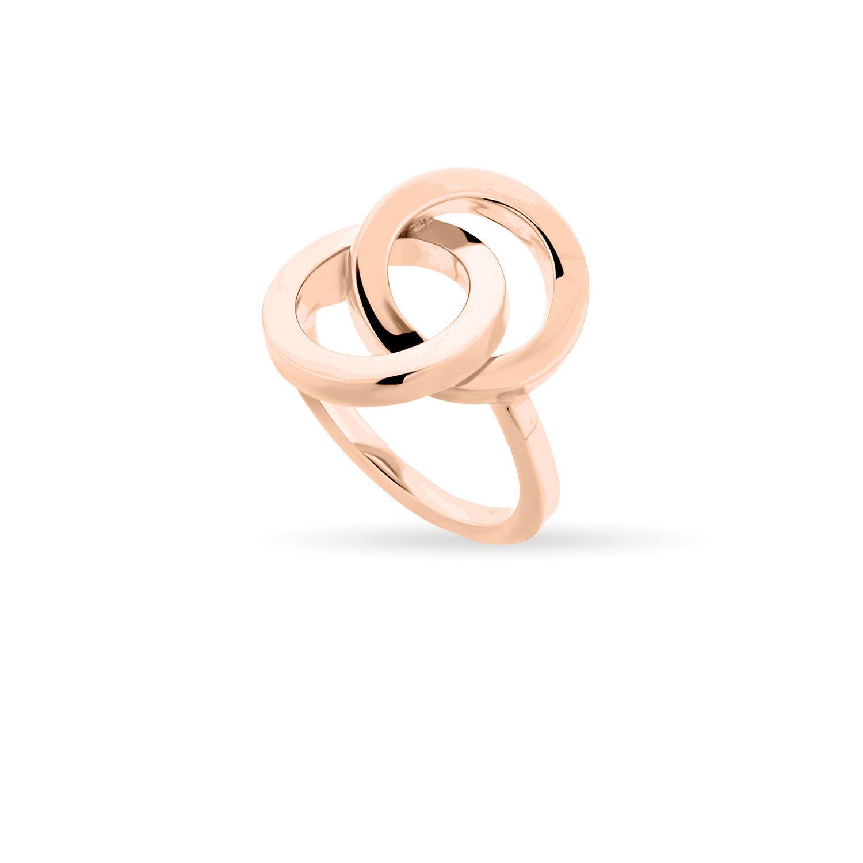 Δαχτυλίδι You & Me από ροζ επιχρυσωμένο ασήμι 925°