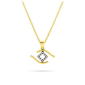 Μενταγιόν i Collection από χρυσό 18K με μάτι από διαμάντια μπριγιάν