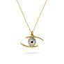 Μενταγιόν i Collection από χρυσό 18K με μάτι από γαλάζιο σμάλτο