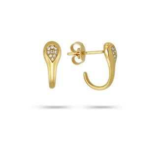 Σκουλαρίκια Mamba από χρυσό 18K με διαμάντια μπριγιάν