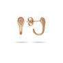 Σκουλαρίκια Mamba από ροζ χρυσό 18K με διαμάντια μπριγιάν
