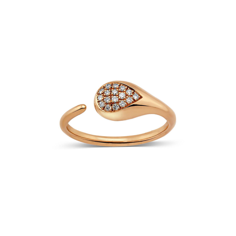 Δαχτυλίδι Mamba από ροζ χρυσό 18K με διαμάντια μπριγιάν