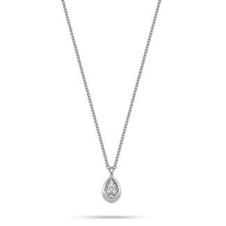 Κολιέ Mamba από λευκό χρυσό 18K με διαμάντι pear
