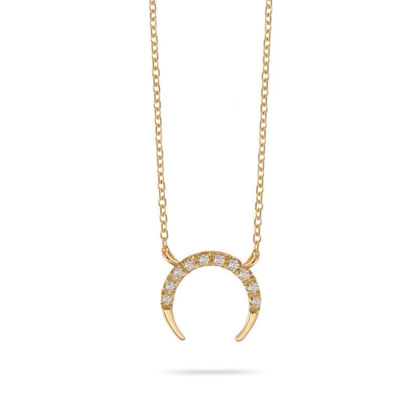 Μενταγιόν Symbols Πέταλο από χρυσό 18K με διαμάντια μπριγιάν