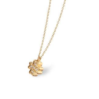 Κολιέ Symbols Τριφύλλι  από χρυσό 18Κ με διαμάντια μπριγιάν