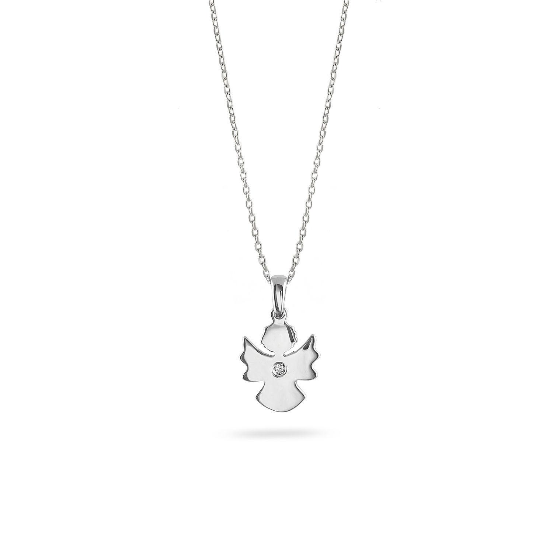 Μενταγιόν Symbols Aγγελάκι από χρυσό 18Κ με διαμάντι μπριγιάν