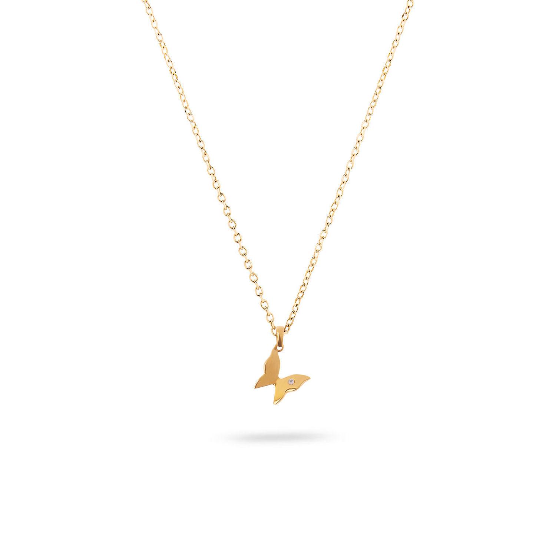 Μενταγιόν Symbols Πεταλούδα από χρυσό 18K με διαμάντι μπριγιάν