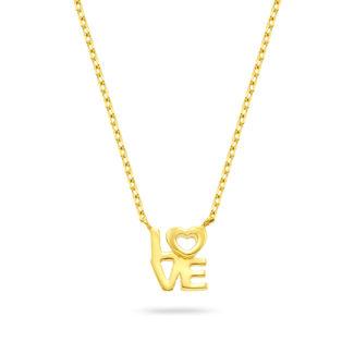 Μενταγιόν Symbols Love από χρυσό 18K