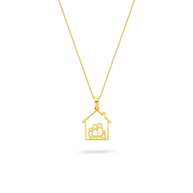 Μενταγιόν Symbols Family House από χρυσό 18K
