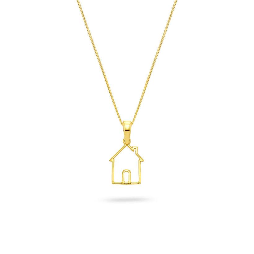 Μενταγιόν Symbols Happy House από χρυσό 18K