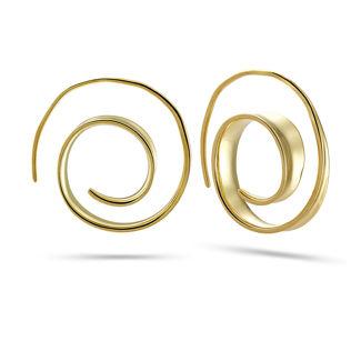 Σκουλαρίκια κρίκοι Roma από επιχρυσωμένο ασήμι 925°