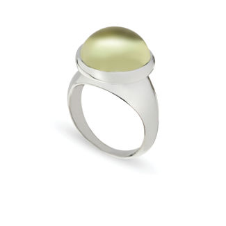 Δαχτυλίδι Chevalier από επιροδιωμένο ασήμι 925° με lemon quartz
