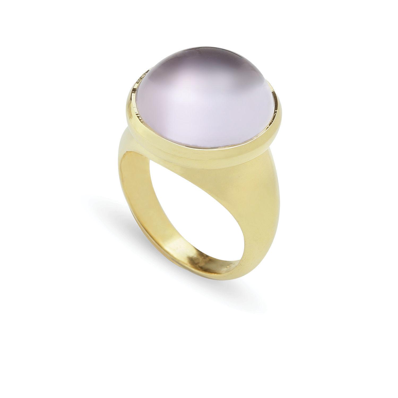 Δαχτυλίδι Chevalier από επιχρυσωμένο ασήμι 925° με ροζ αμέθυστο