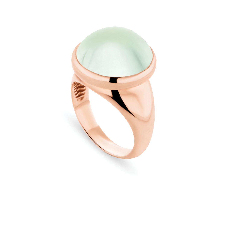 Δαχτυλίδι Chevalier από ροζ επιχρυσωμένο ασήμι 925° με πρασιολίτη