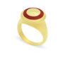 Δαχτυλίδι Chevalier από επιχρυσωμένο ασήμι 925° με κόκκινο σμάλτο