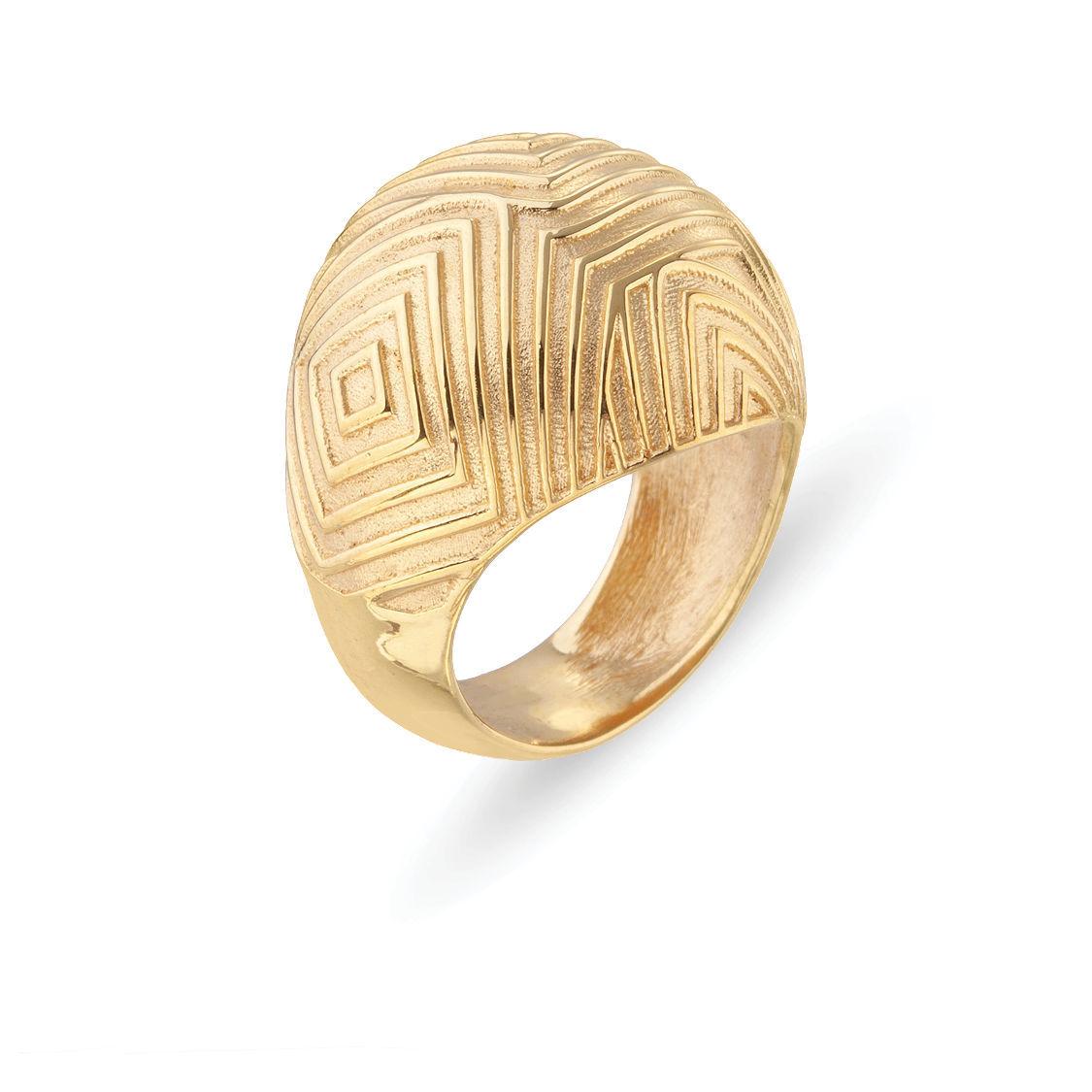 Δαχτυλίδι Mitos από επιχρυσωμένο ασήμι 925°