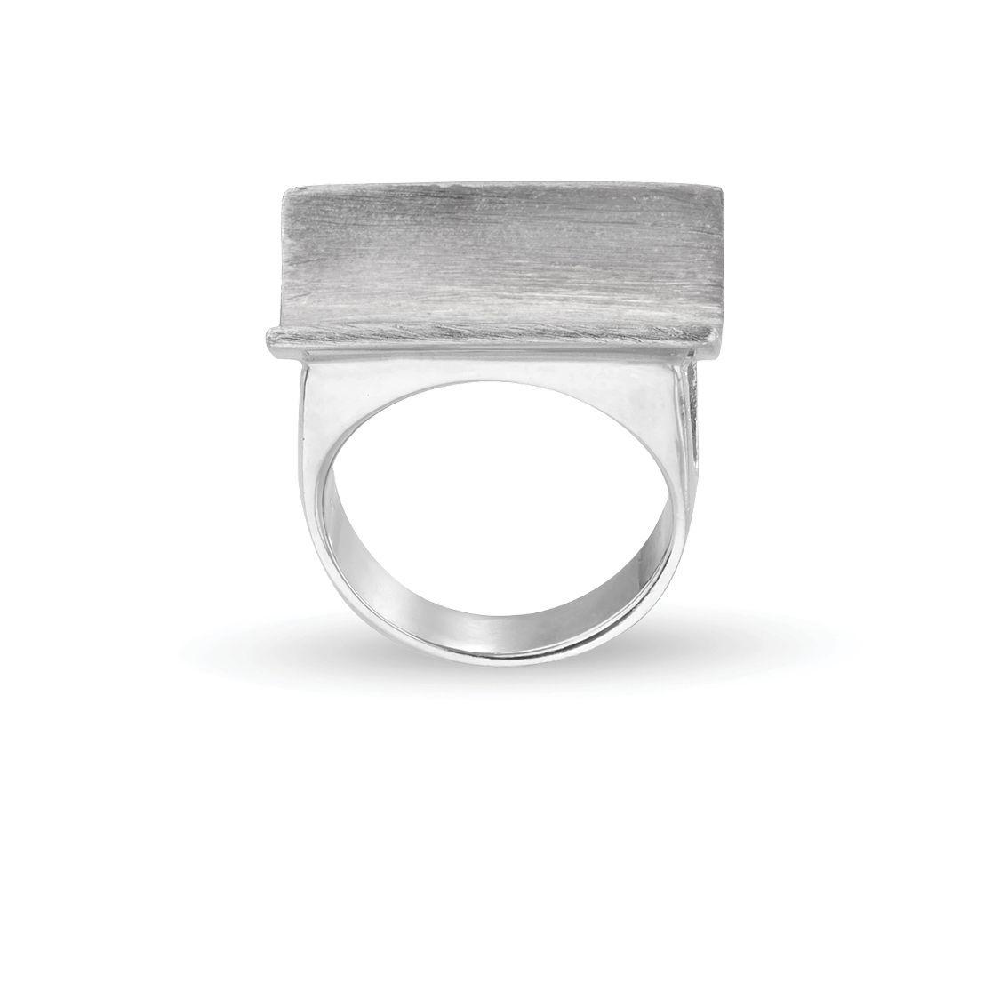 Δαχτυλίδι από επιροδιωμένο ασήμι 925°
