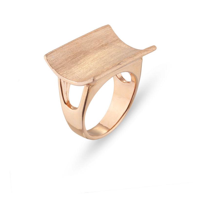 Δαχτυλίδι από ροζ επιχρυσωμένο ασήμι 925°