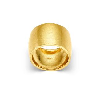 Δαχτυλίδι Roma από ματ επιχρυσωμένο ασήμι 925°