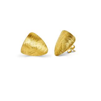 Σκουλαρίκια Roma από ματ επιχρυσωμένο ασήμι 925°